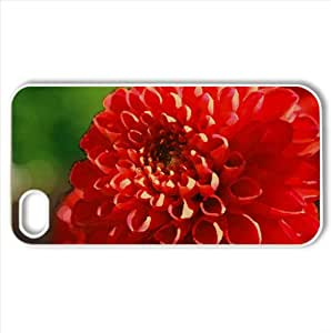 Red Mum Flower Watercolor style Cover iPhone 4 and 4S Case (Flowers Watercolor style Cover iPhone 4 and 4S Case)