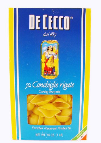 De Cecco Conchigle Rigate Shells Pasta 16 Oz. (Conchiglie Pasta compare prices)