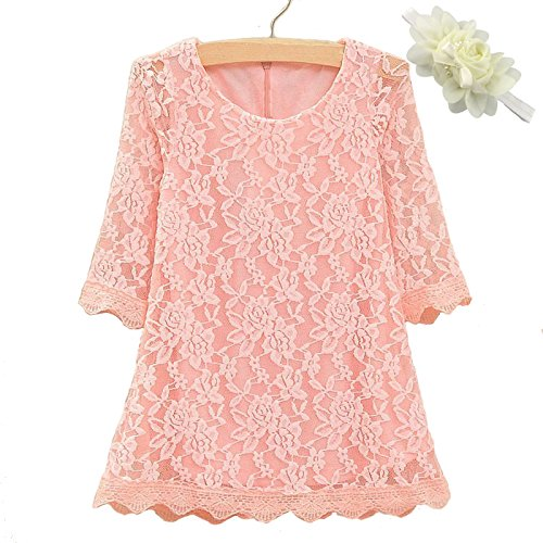 Mommy's Little Darlings Little Girls' Couture Rose Lace Dress 18 Months Rose