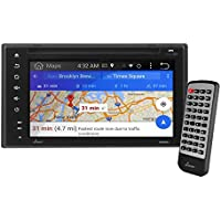 Premium Lanzar Android 6.5 Double Din Bluetooth Widescreen Car Stereo Receiver, Headunit, Touchscreen Tablet Style Display, Wi-Fi Web Browsing, App Download, GPS, HD 1080P Support, SD/USB (SDAND620)