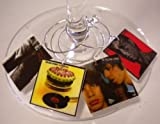 FortySevenGems Set of 6 Rolling Stones Album Cover Collection Wine Charms