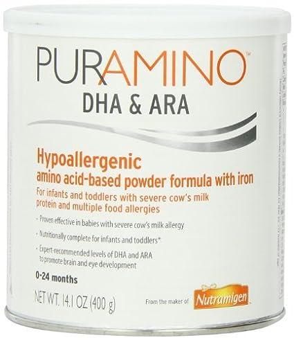 Fórmula basada PurAmino hipoalergénico aminoácidos con hierro en polvo, 14,1 Onza