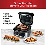 Ninja Foodi AG301 5-in-1 Indoor Electric Countertop Grill with 4-Quart Air Fryer, Roast, Bake, Dehydrate, and Cyclonic…