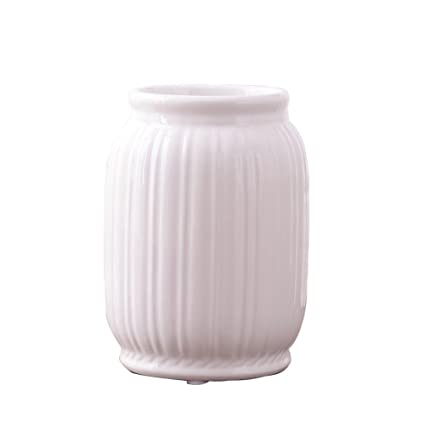 Amazon Baoceng Flower Vase Ceramic Vase Roman Stripes Simple