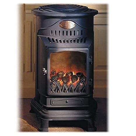 Calefactor de gas efecto sartén para madera 3 kW Provence: Amazon.es: Hogar