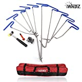 WHDZ 10 Pieces Auto Body Dent Removal Pdr Rod Tool Kit- Hail and Door Ding Repair Starter Set (B)