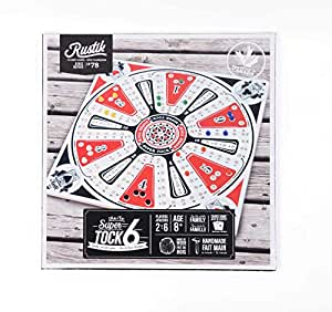 amazon com rustik bjr000129 tock game 6 players multicolor toys