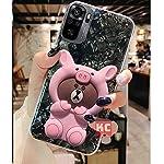 KC Cute Love Teddy Cartoon Bear Pink Shell Soft Silicone Semi Transparent Back Cover for Mi Redmi Note 10 & MI Redmi…