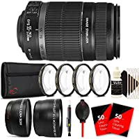 Canon EF-S 55-250mm f/4-5.6 IS II Lens for Canon EOS 1300D 1200D 700D with Accessory Bundle
