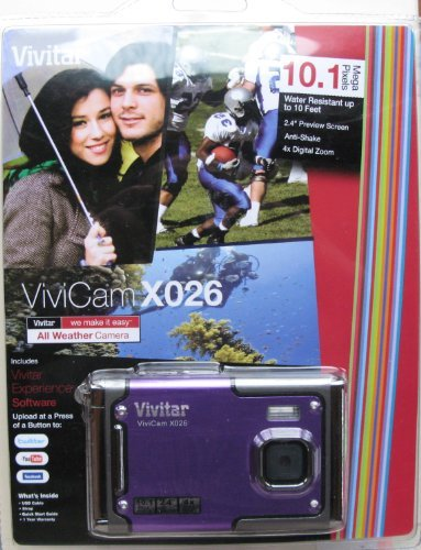ViviCam X026 10.1 MP HD Digital Camera (Black, Purple)