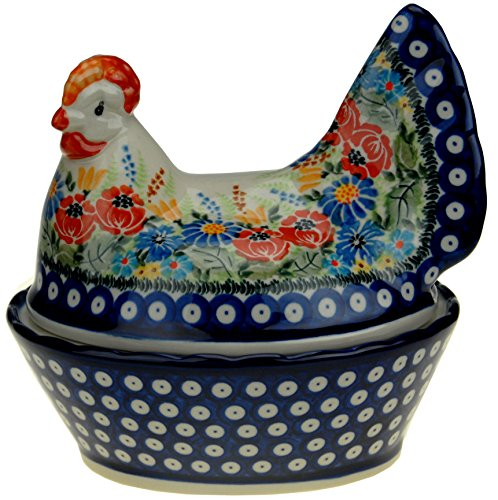 (Ceramika Boleslawiecka Kalich Polish Hand Painted Candy Dish)
