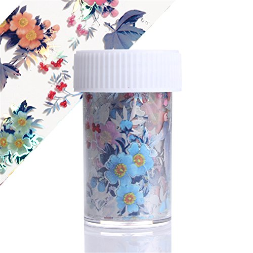 BORN PRETTY 1 Roll Flower Leaf Nail Foil Starry Colorful Nail Art Transfer Sticker Manicure