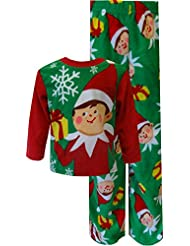 Christmas is Coming Elf on the Shelf Fleece Holiday Pajamas for Little Boys