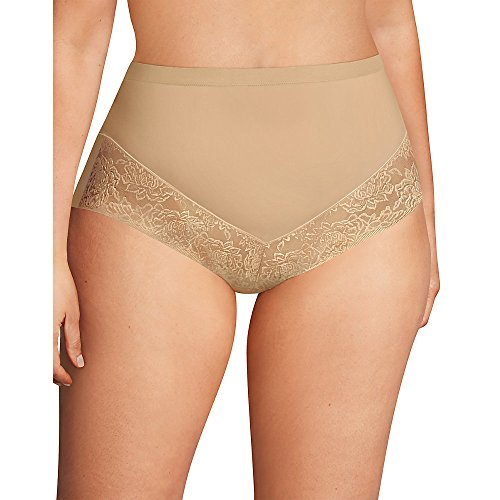 Maidenform Women's Plus Size Curvy Firm Foundations at-Waist Shaping Brief, Body Beige, 4X Large