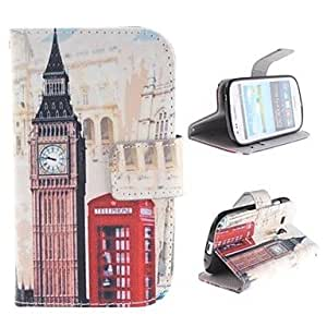 JOE Big Ben and Red gate Design PU Leather Full Body Protective Case with Stand for Samsung Galaxy S3 Mini I8190 , Rose