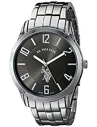 U.S. Polo Assn. USC80038 Reloj clásico análogo con dial negro para hombres
