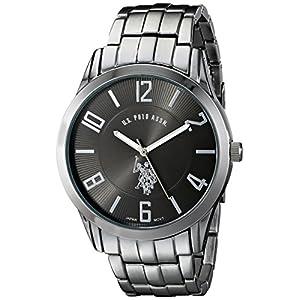 US-Polo-Assn-USC80038-Reloj-clsico-anlogo-con-dial-negro-para-hombres