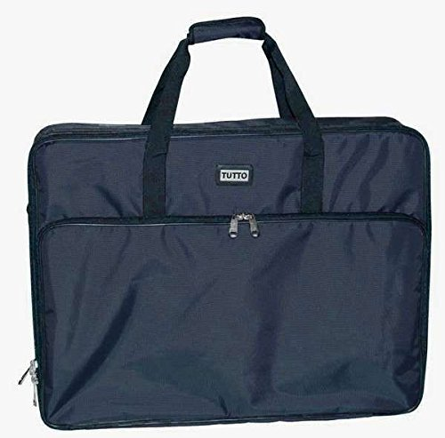 Tutto 26' Black Embroidery Project Bag 6226BEM