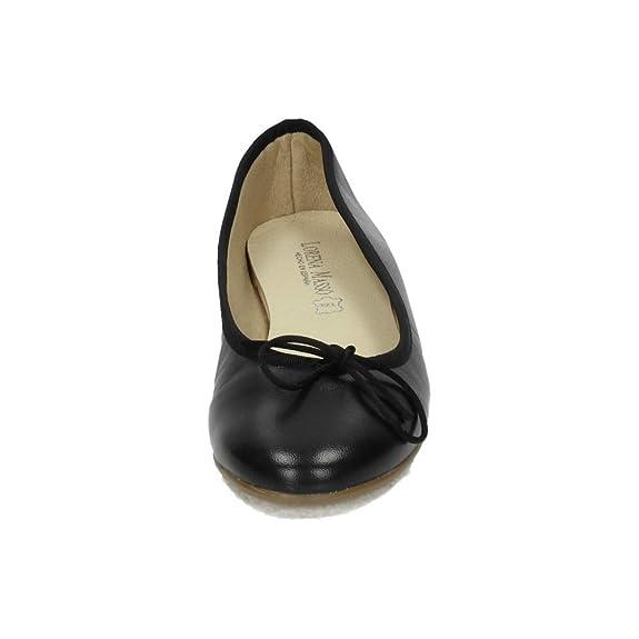 d71b403bd LORENA MASSÓ V18314 Manoletinas Negras Mujer Manoletinas  Amazon.es   Zapatos y complementos