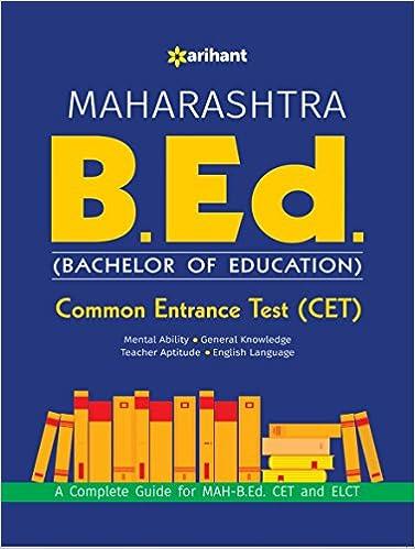 Buy Maharashtra B Ed Common Entrance Test (CET) Book Online