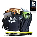 Black Fanny Pack Waist Bag with Water Bottle Holder for Men Women Cute & Large Smartphone Pocket | Belt Bag Suitable Even for Larger Sizes | Recommended for Running, Dog Walking, Hiking and Traveling