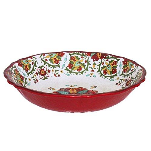 Le Cadeaux Salad - Le Cadeaux Allegra Salad Bowl, 13.75-Inches, Red