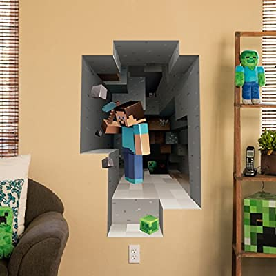 Minecraft Wall Clings Choose From 6 Designs