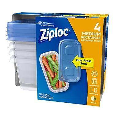Amazoncom Ziplock Storage Containers Blue 14 Oz 4 Pk
