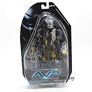 Amazon.com: LyZim Alien Vs. Masked Scar and Scar PVC Action ...