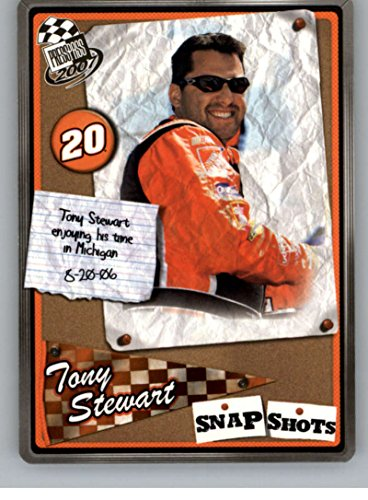 Tony Stewart 2007 Press (2007 Press Pass Snapshots #SS26 Tony Stewart NM-MT)
