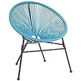 Charles Bentley Garden Furniture Retro Rattan Lounge Conservatory Single Chairs - Grey
