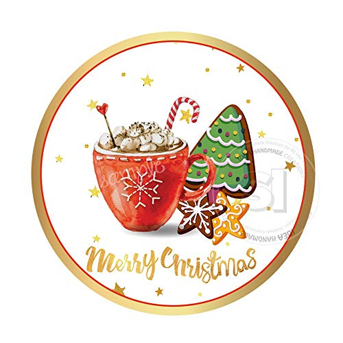 Instant Downloadmerry Christmas Tagschristmas Cookies and Hot Chocolate Printable Tag Sticker Diyyou Print ()