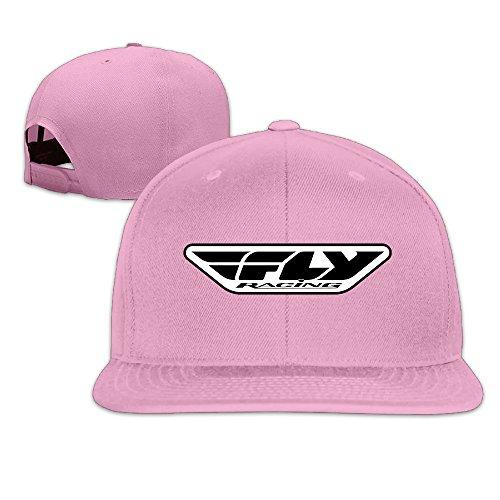 HAPYO Fly Racing Medium Logo Adjustable Snapback Baseball Hats Flat Cap Pink