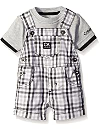 Baby Boys' Interlock Top with Woven Shortall