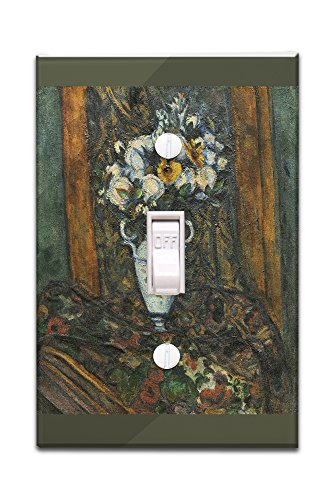 Vase of Flowers - Masterpiece Classic - Artist: Paul Cezanne c. 1900 (Light Switchplate Cover)