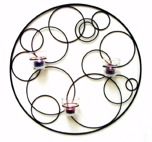 Wire Wall Art Votive Holder - outdoor metal wall art