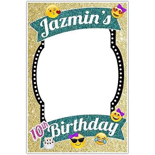 - Glitter Emoji Personalized Signature Keepsake Guestbook Alternative, Signing Poster for Birthday Party Memories
