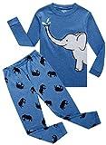 Image of Family Feeling Elephant Baby Boys Long Sleeve Pajamas Sets 100% Cotton Pyjamas Toddler Infant Kids 18-24 Months Blue