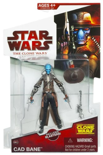Wars Star Clone Wars Figures (Star Wars 2009 Clone Wars Animated Action Figure CW-22 Cad Bane [Toy])