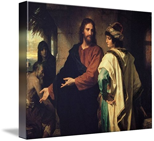 Wall Art Print Entitled Christ and The Rich Young Ruler by Heinrich Hofman by Celestial Images | 30 x 24