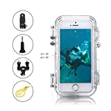 iPhone 6/6s Waterproof Case, OXOQO IP68 Dustproof Shockproof Case with Ultra-Wide Angle Lens Gopro Adapters for Swimming, Diving, Bike, Hot Tub, Fishing