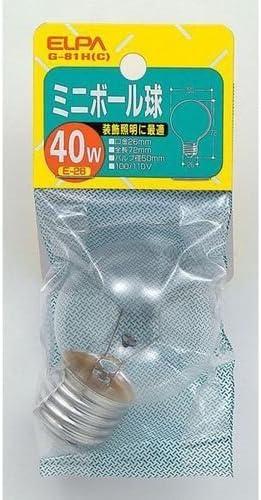 (まとめ買い) ELPA ミニボール球40W G-81H(C) 【×5】
