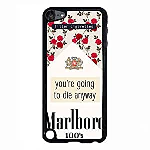 Case Cover For iPod Touch 5th Plastic Phone Case Marlboro 100'S Filter Cigarettes Brand Logo Image For Women