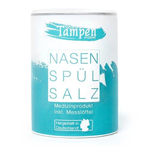 120x neusspoelzout (oplossing) · inclusief doseerlepel · 300g navulverpakking XXL · zout voor neusdouche · Tampen…