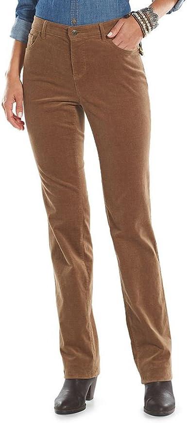 Amazon Com Chaps Ralph Lauren Pana Pernera Recta Para Mujer Pantalones 8 Petite Clothing
