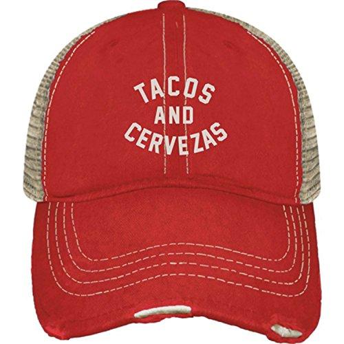 Original Retro Brand The Tacos & Cervezas Hat, Red, One Size - Retro Hat