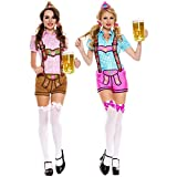 GSG Lederhosen Beer Babe Costume Adult Oktoberfest Fancy Dress
