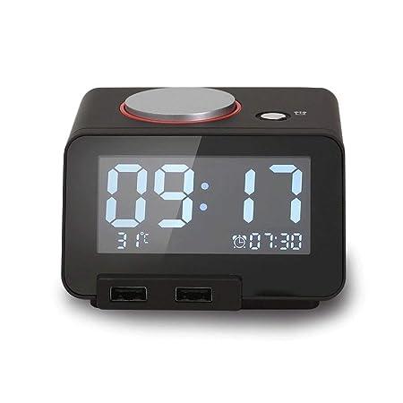 VSousT Reloj Despertador Multifuncional para música ...