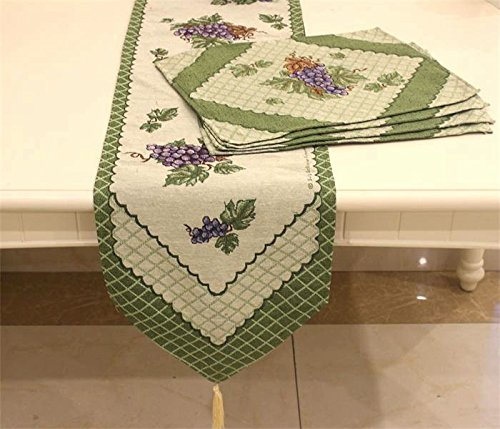 Placemat and Table Runner, ColorfulifeΒ' Grape Wine Patte...
