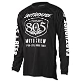 Fasthouse 805 Shield Air Cooled Men's Motocross Motorcycle Jersey Black 2X-Large